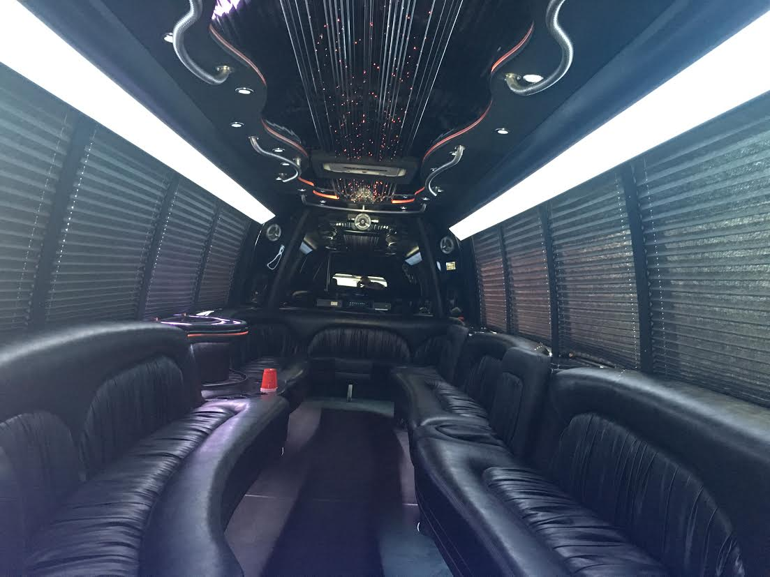 25 passenger Party Limo Bus interior 2
