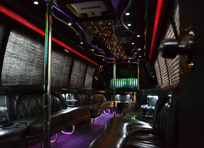 30 passenger Party Limo Bus interior 1