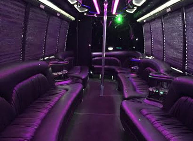 30 passenger Party Limo Bus interior 9