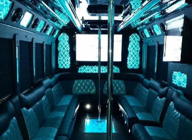 40 passenger Party Limo Bus interior 2