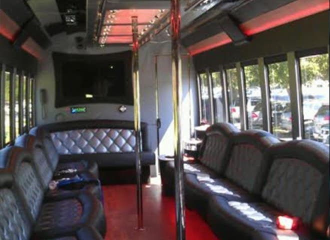 40 passenger Party Limo Bus interior 3